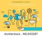 line flat vector business... | Shutterstock .eps vector #481343287