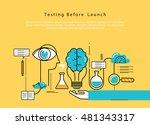 line flat vector business... | Shutterstock .eps vector #481343317