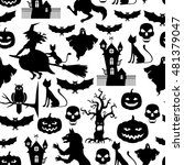 illustrations of halloween... | Shutterstock . vector #481379047