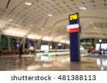 abstract blur gate in airport... | Shutterstock . vector #481388113