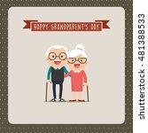 happy grandparents day ... | Shutterstock .eps vector #481388533