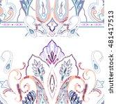 seamless paisley vector pattern ... | Shutterstock .eps vector #481417513