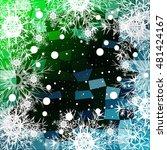 frame of christmas snowflakes... | Shutterstock .eps vector #481424167