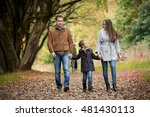 lovely family walking in the... | Shutterstock . vector #481430113