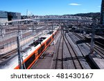 nordenga bridge and train above ... | Shutterstock . vector #481430167