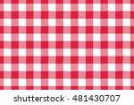Red Gingham Tablecloth Pattern...