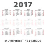calendar for 2017 on white... | Shutterstock .eps vector #481438303