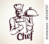 chef stylized vector portrait ... | Shutterstock .eps vector #481448707