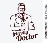 doctor portrait retro emblem ... | Shutterstock .eps vector #481448803