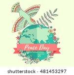 international peace day. 21... | Shutterstock .eps vector #481453297
