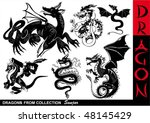 dragons collection | Shutterstock .eps vector #48145429