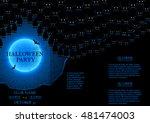 halloween party flyer. vector...   Shutterstock .eps vector #481474003