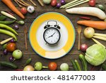 food clock. healthy food...