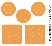 set of square and round cracker ... | Shutterstock .eps vector #481479997