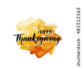 happy thanksgiving postcard.... | Shutterstock .eps vector #481512163