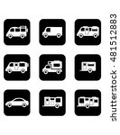 set of black isolated icons... | Shutterstock .eps vector #481512883