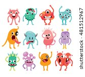 monsters cartoon character with ... | Shutterstock .eps vector #481512967
