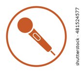 microphone  icon.  flat design.