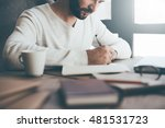 making some important notes.... | Shutterstock . vector #481531723