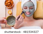 young woman in spa health... | Shutterstock . vector #481534327