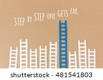 step by step one gets far  ... | Shutterstock . vector #481541803