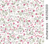 seamless floral pattern on...   Shutterstock .eps vector #481550203