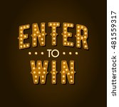 enter to win vector sign | Shutterstock .eps vector #481559317