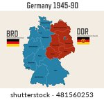 germany cold war map with flags ... | Shutterstock .eps vector #481560253