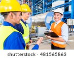 asian factory worker and... | Shutterstock . vector #481565863