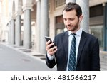 businessman in the city looking ... | Shutterstock . vector #481566217