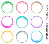colorful brush strokes circle... | Shutterstock .eps vector #481574677