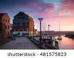 Sunset In The Klaipeda Port ...