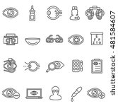vision care icons set.... | Shutterstock .eps vector #481584607
