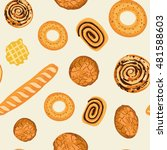 seamless pattern with baked... | Shutterstock .eps vector #481588603