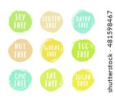 set of allergen free badges.... | Shutterstock .eps vector #481598467