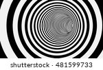 black and white circle striped... | Shutterstock .eps vector #481599733