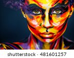 portrait of the bright...   Shutterstock . vector #481601257