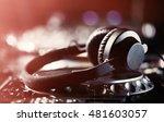dj headphones   turntable... | Shutterstock . vector #481603057