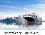 international container cargo... | Shutterstock . vector #481603753