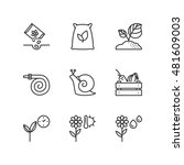 thin line icons set about... | Shutterstock .eps vector #481609003