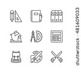 thin line icons set about... | Shutterstock .eps vector #481609033