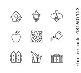 thin line icons set about... | Shutterstock .eps vector #481609153