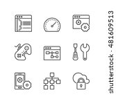 thin line icons set about web... | Shutterstock .eps vector #481609513