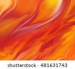 Blazing Fire Background With...