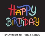happy birthday colorful... | Shutterstock .eps vector #481642807