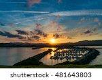 sunset landscape of coastal... | Shutterstock . vector #481643803
