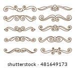 decorative elements. dividers... | Shutterstock .eps vector #481649173