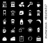 coffee shop icons on black... | Shutterstock .eps vector #481656517