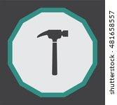 hammer vector icon. repair sign....