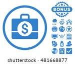 accounting case icon with bonus.... | Shutterstock . vector #481668877